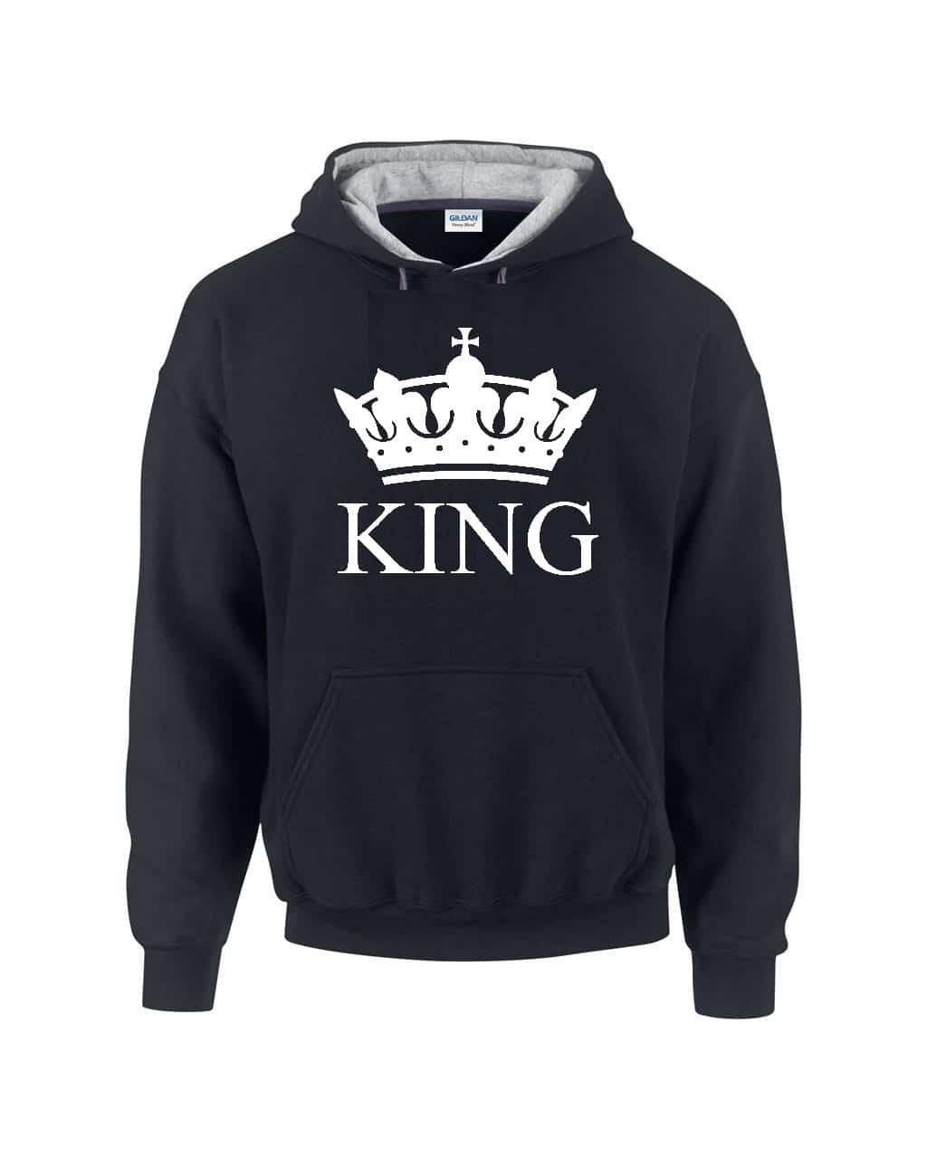 King kapucnis pulóver  f4342dc8df