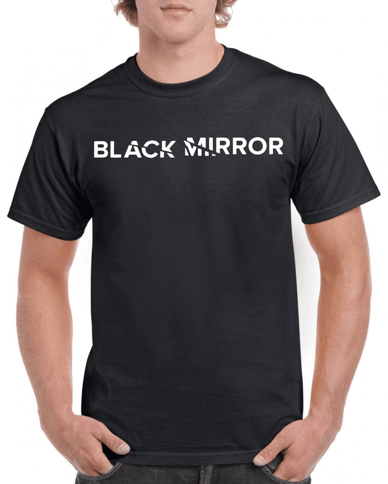 3930131909 Black mirror férfi póló | Póló ügynökség