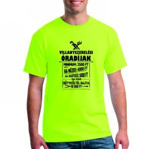 e1eef12a72 Villanyszerelő óradíjak férfi póló