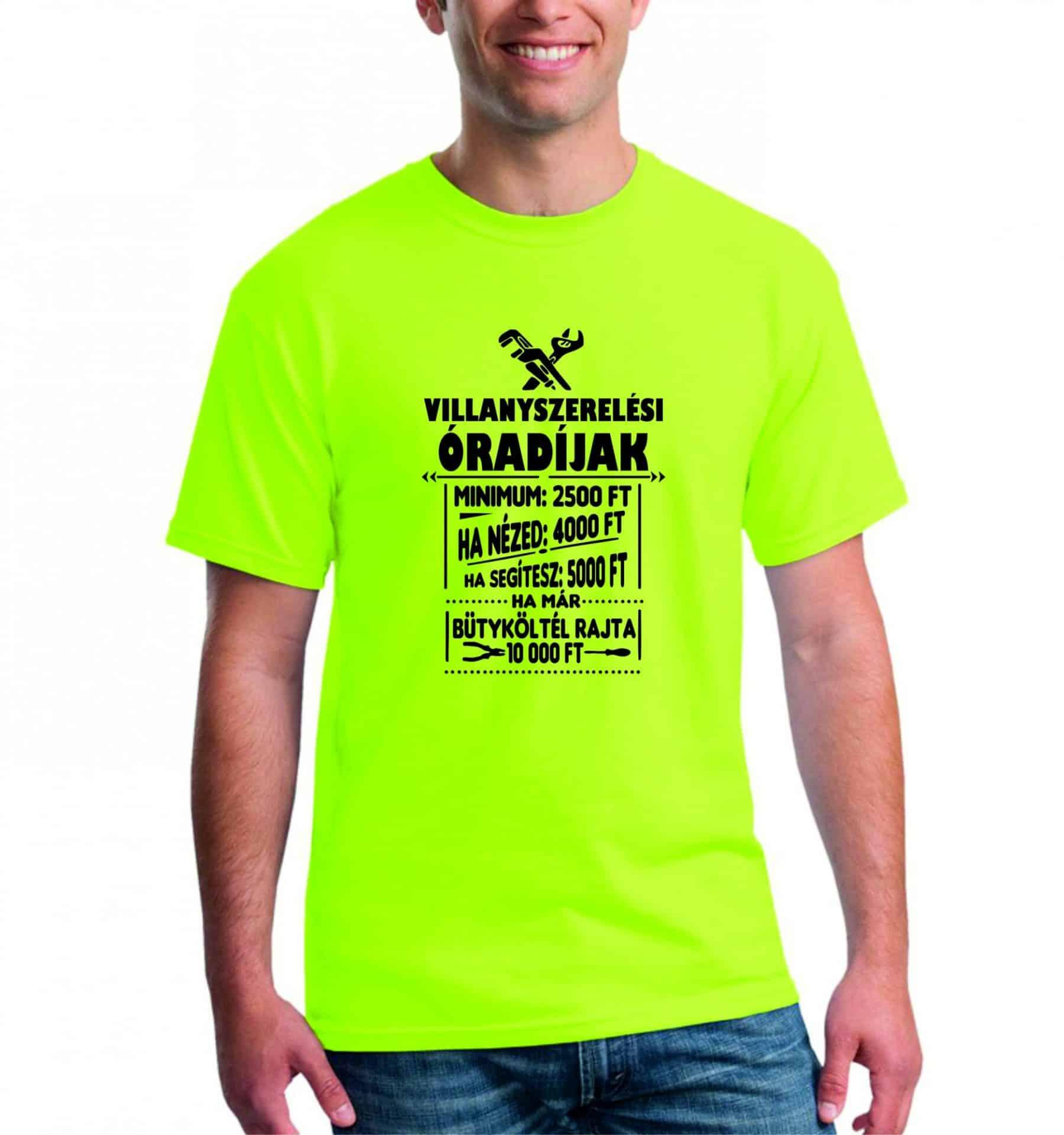 51ace639ae Villanyszerelő óradíjak férfi póló | Póló ügynökség
