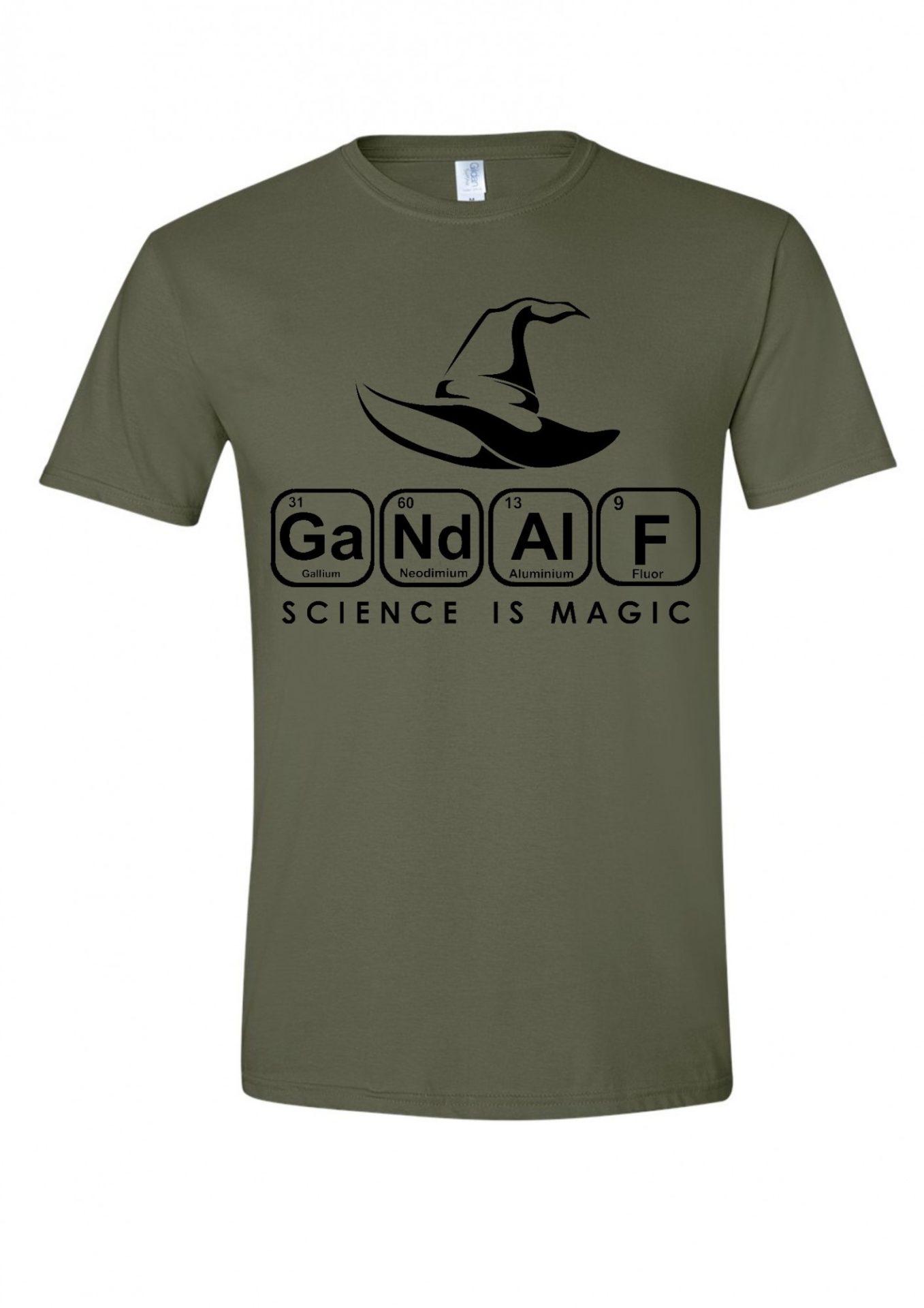 29bbb79948 Gandalf Science is Magic férfi póló | Póló ügynökség
