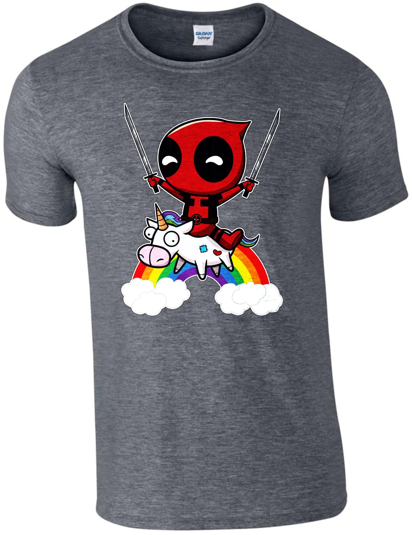 41b3661a95 Deadpool szivárványos unikornissal férfi póló | Póló ügynökség
